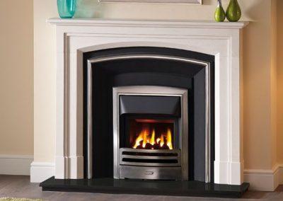 Ashcombe 54 stone fireplace mantel – Agean Limestone