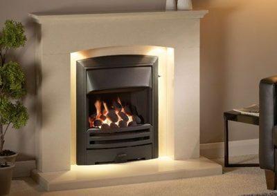 Faro 42 Perla Micromarble Fireplace