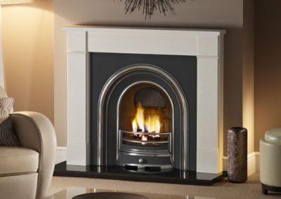 Hersham 54 stone fireplace mantel – Agean Limestone