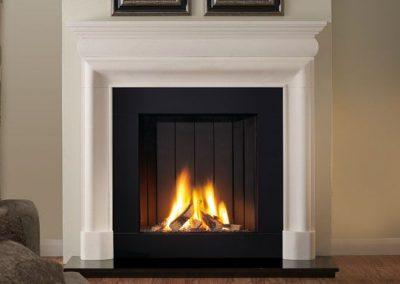 Mulholland 54 stone fireplace mantel – Agean Limestone