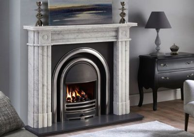 Regent 57 marble fireplace – Carrara Marble