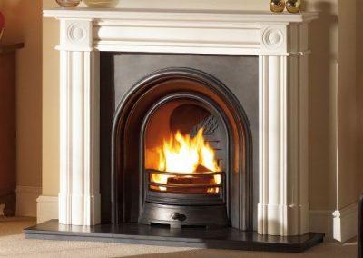 Regent 57 stone fireplace mantel – Agean Limestone