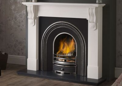 Sandringham 54 marble fireplace – Liberty White Marble