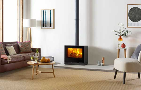 Freestanding Elise Glass 680 Chiltern Fireplaces